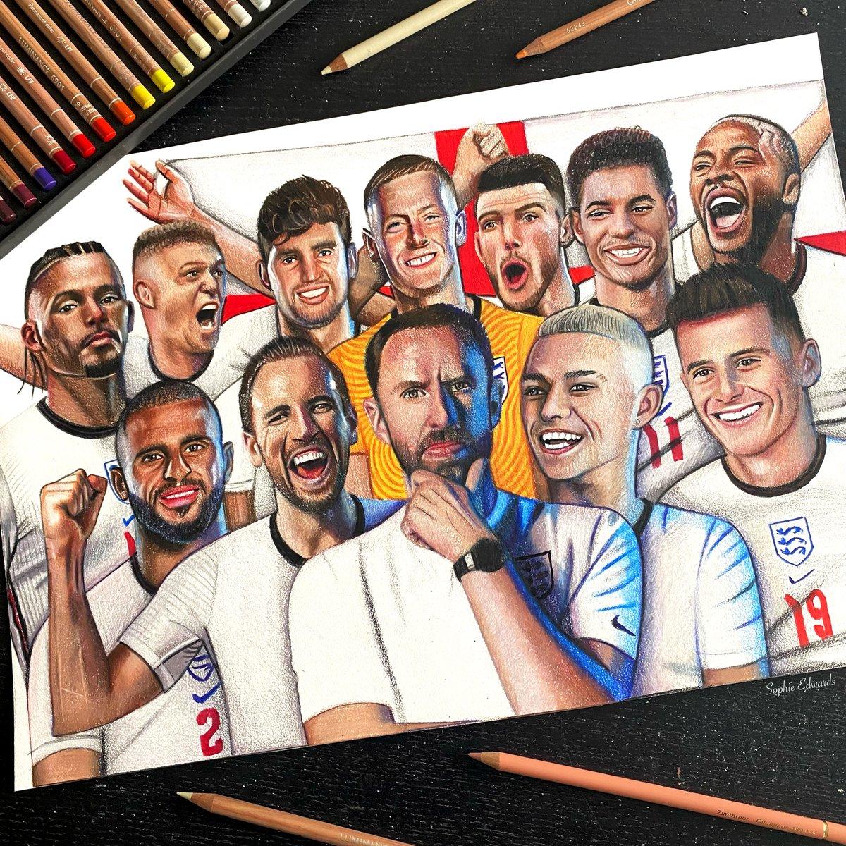 Image of England Team print 2020