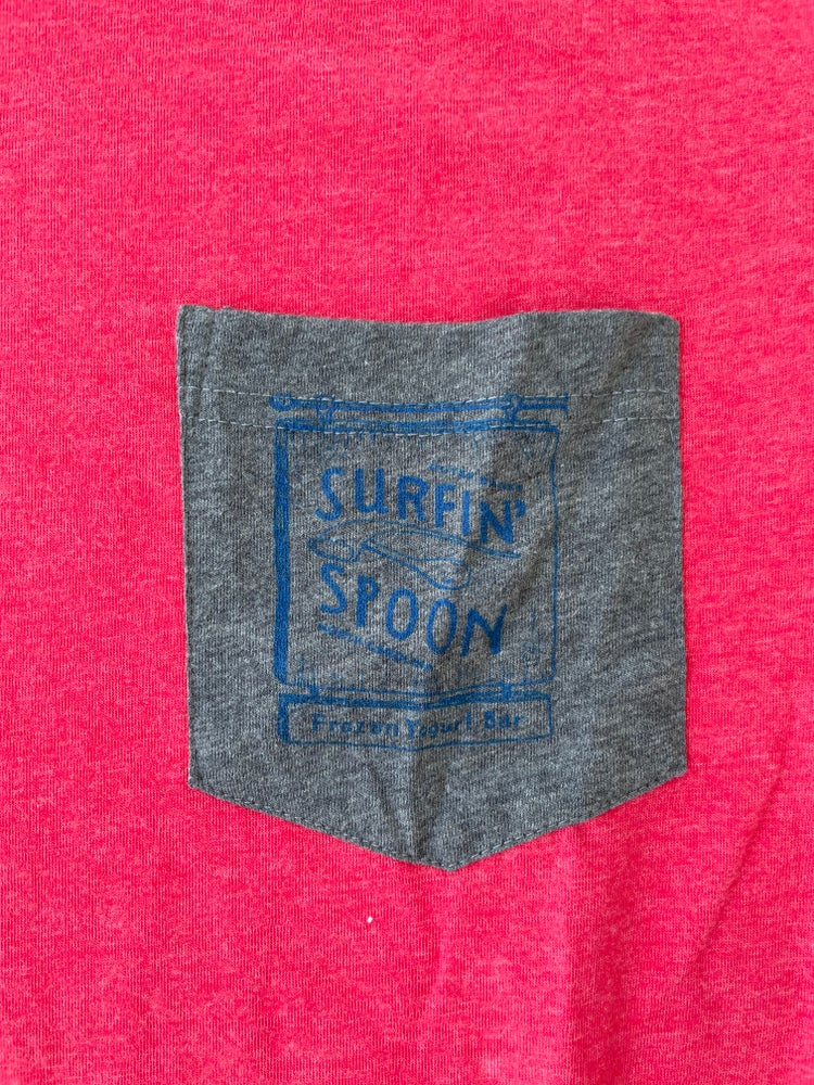 Image of Classic Pocket Tee V Neck - Red