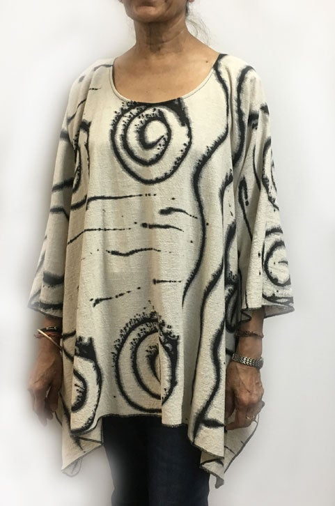 Image of Joy Tunic - 90% Cotton/10% Linen - African Inspired Paint Design