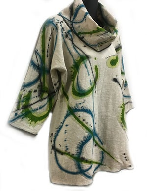 Image of Alison Tunic - Dance of the Universe Design - Collar is separate