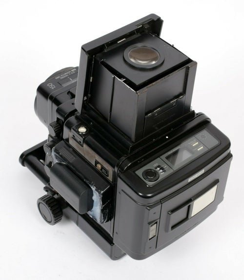 Image of Fuji GX680 6X8 SLR 6X8 camera + 150mm lens + 120 back + WLF *battery conversion*