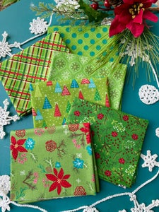 Image of Snowed In Green Fat Quarter Pack
