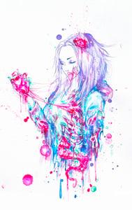 """Image of """"Zombie Girl"""" Original Painting"""