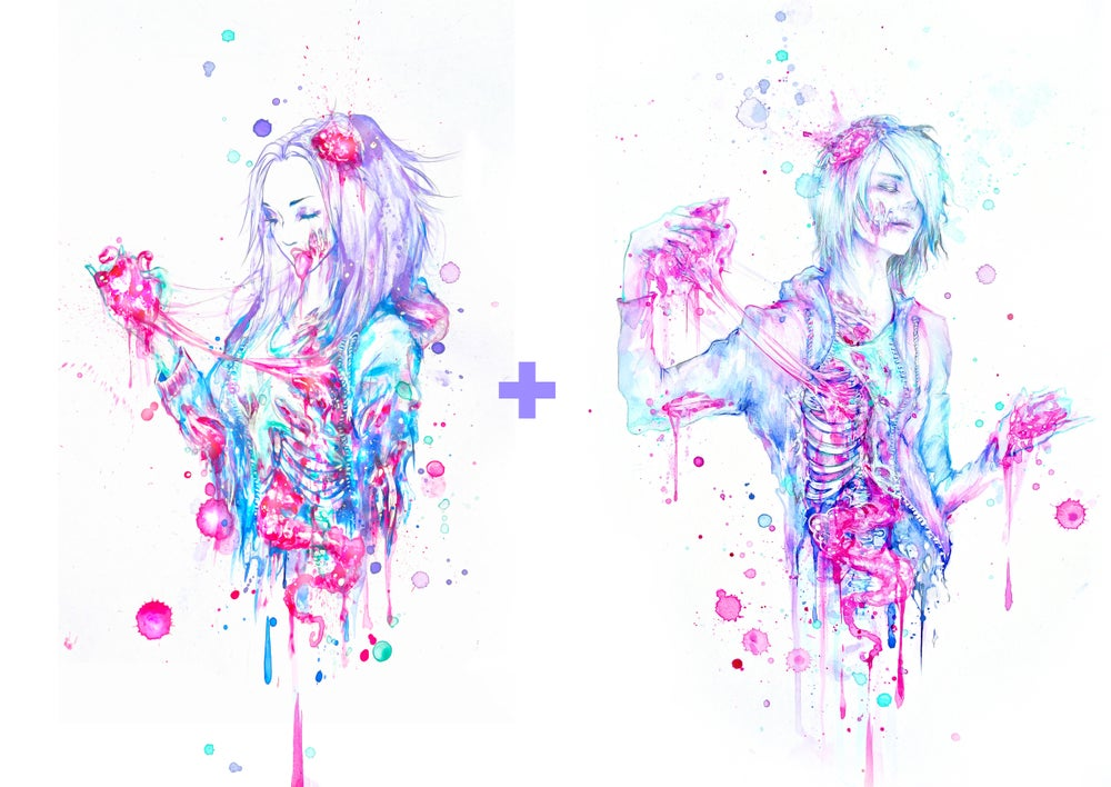 """Image of """"Limited Edition """"Zombie Love"""" Holographic Print Pack"""