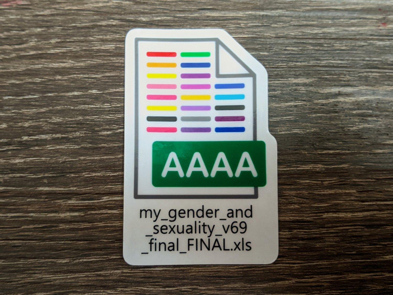 Gender Final Revision Sticker