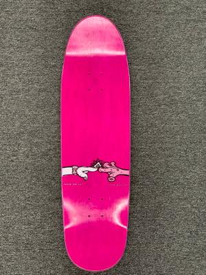 Image of New Deal Jon Montesi SP Re-Issue Skateboard Deck  8.875 x 31.8 ~ Green Stain