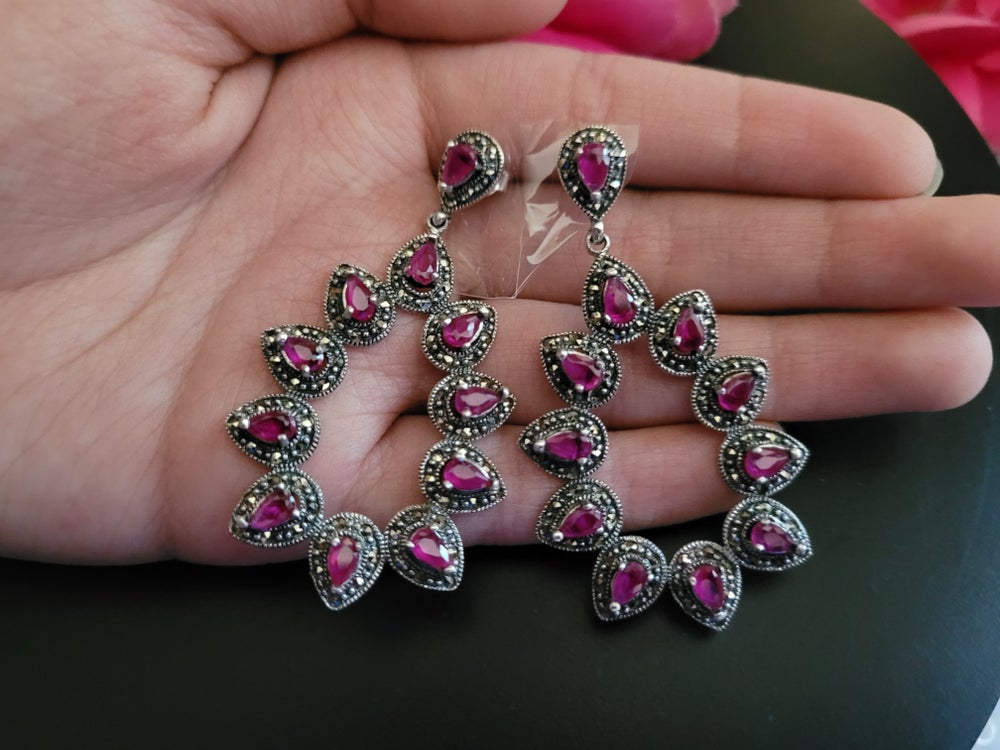 Ruby and Marcasite