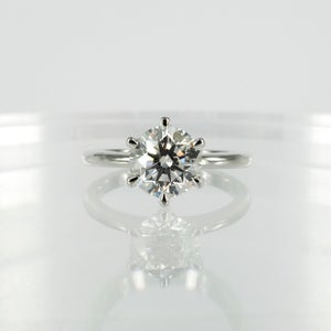 Image of 18ct white gold diamond solitaire diamond engagement ring. PJ5800