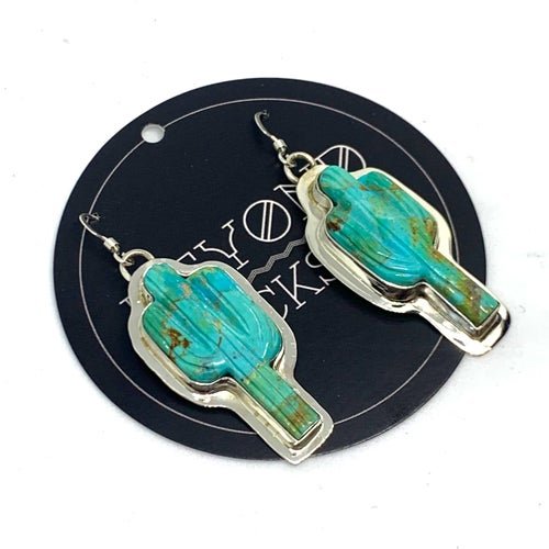 Image of Turquoise Cactus Earrings
