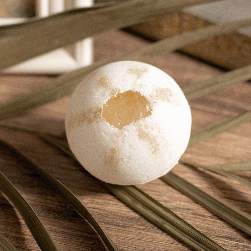 Image of Peace Out Patchouli Crystal Embedded Bath Bomb