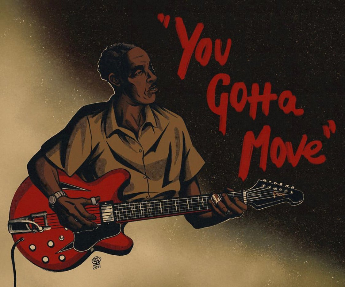 Image of Mississippi Fred McDowell Print