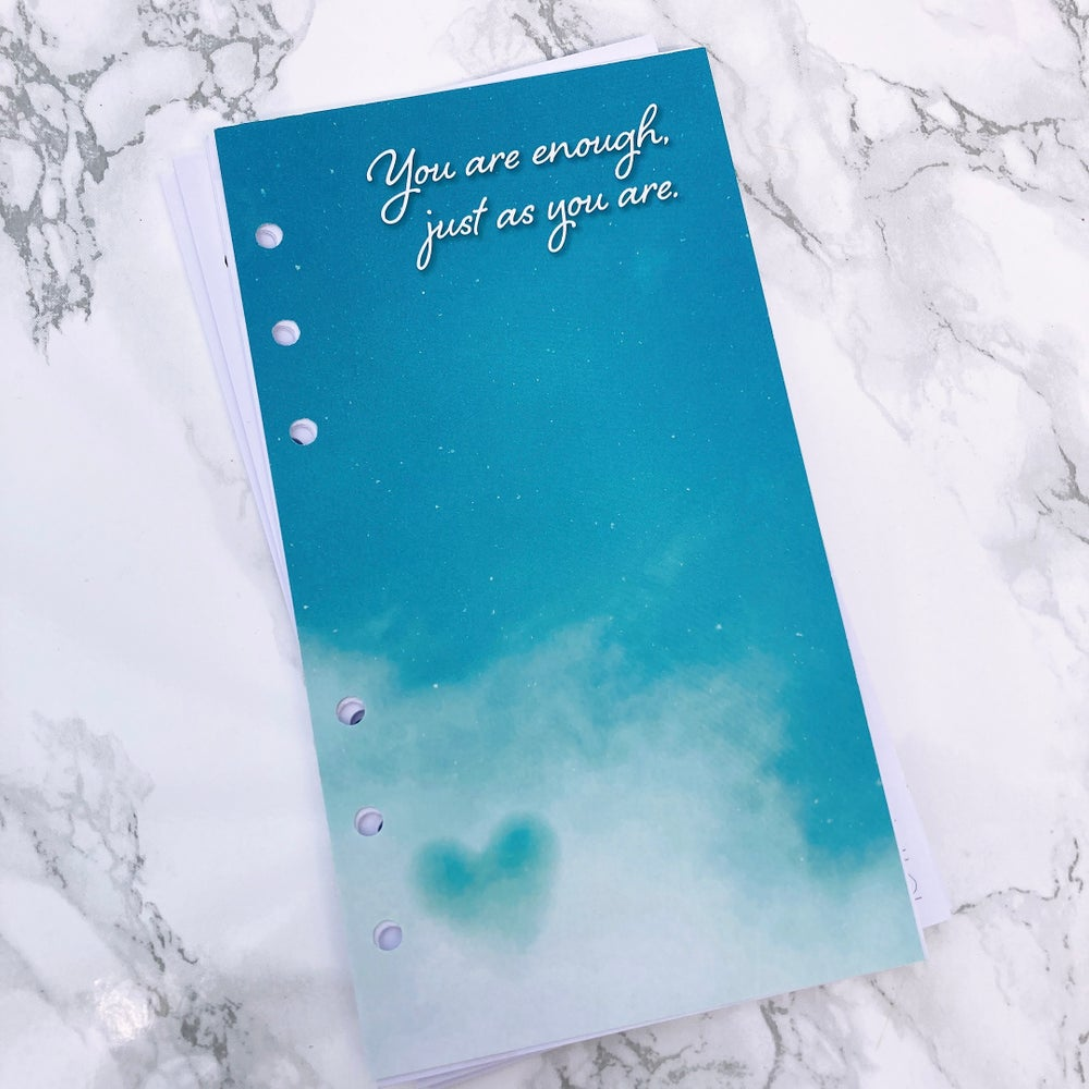 Image of PETITE PLANNER FOOD DIARY 8 WEEK INSERT  - YOU ARE ENOUGH JUST AS YOU ARE