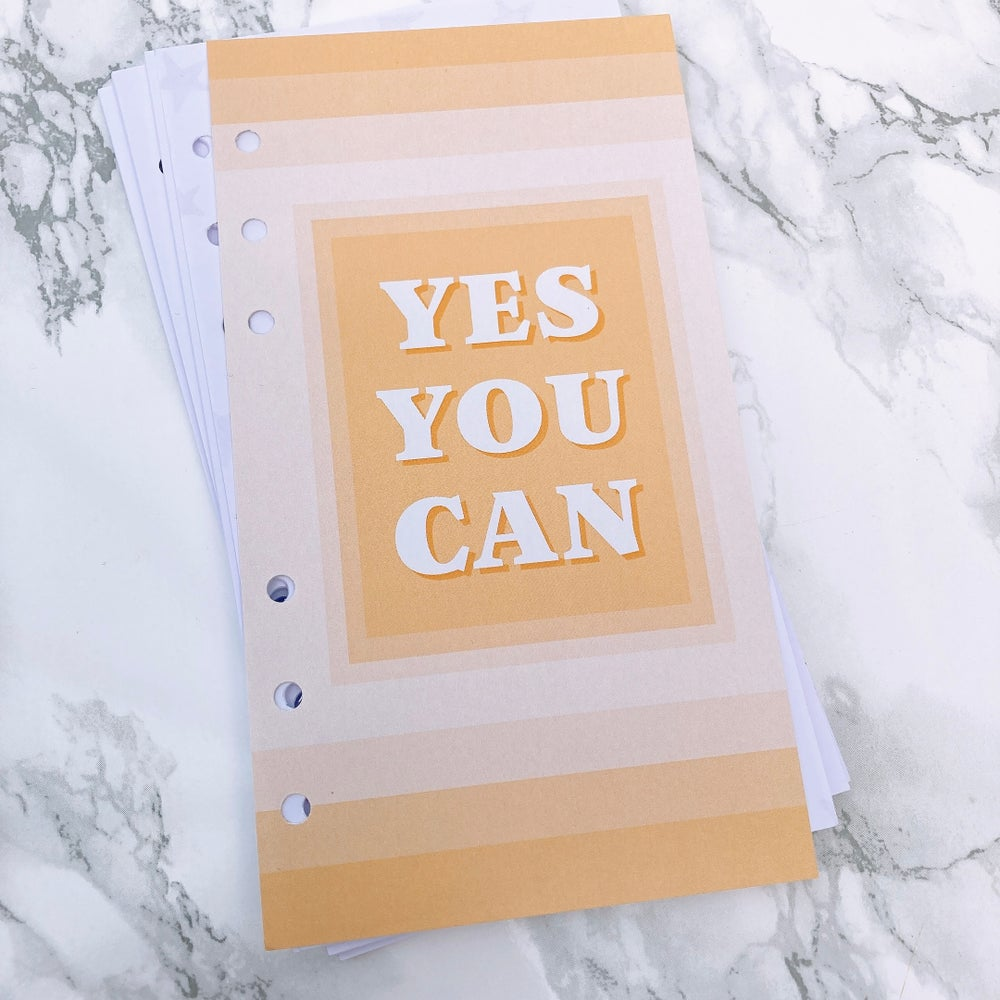 Image of PETITE PLANNER FOOD DIARY 8 WEEK INSERT -YES YOU CAN