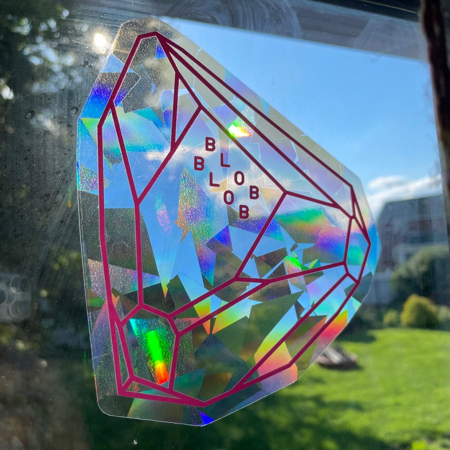 Image of Blob Blob Rainbow Crystal Window Cling