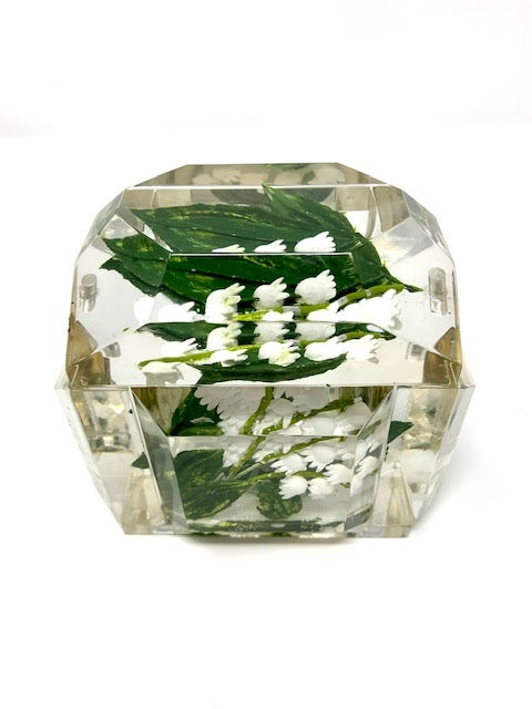 Image of Painted Mini Victorian Lucite Box