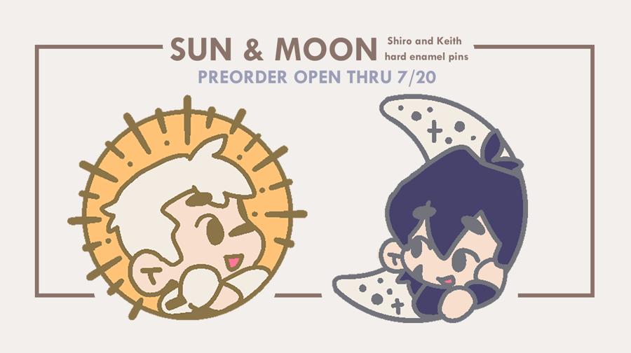 Image of Sun & Moon // Sheith Enamel Pins