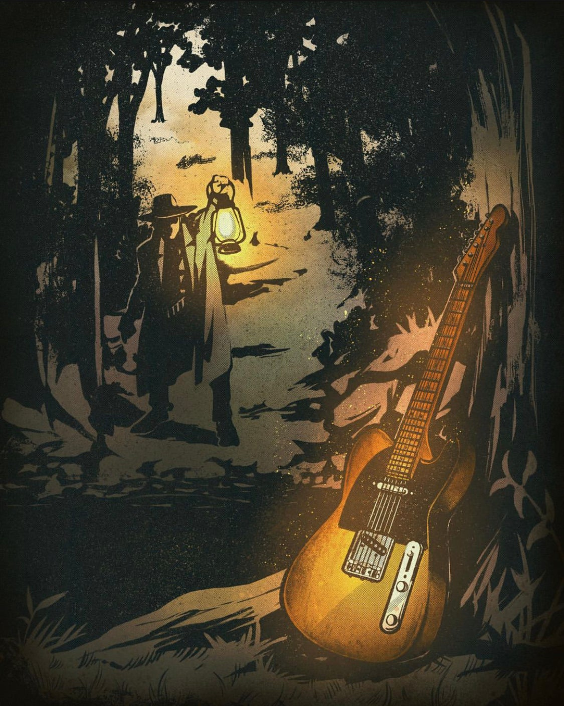Image of Telecaster Trail Print