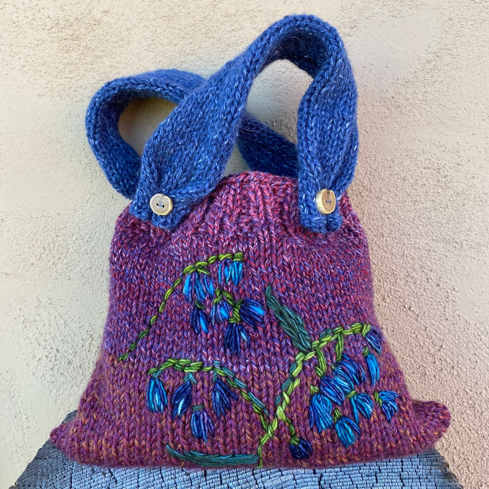 Image of Bluebells Knitted Pouch