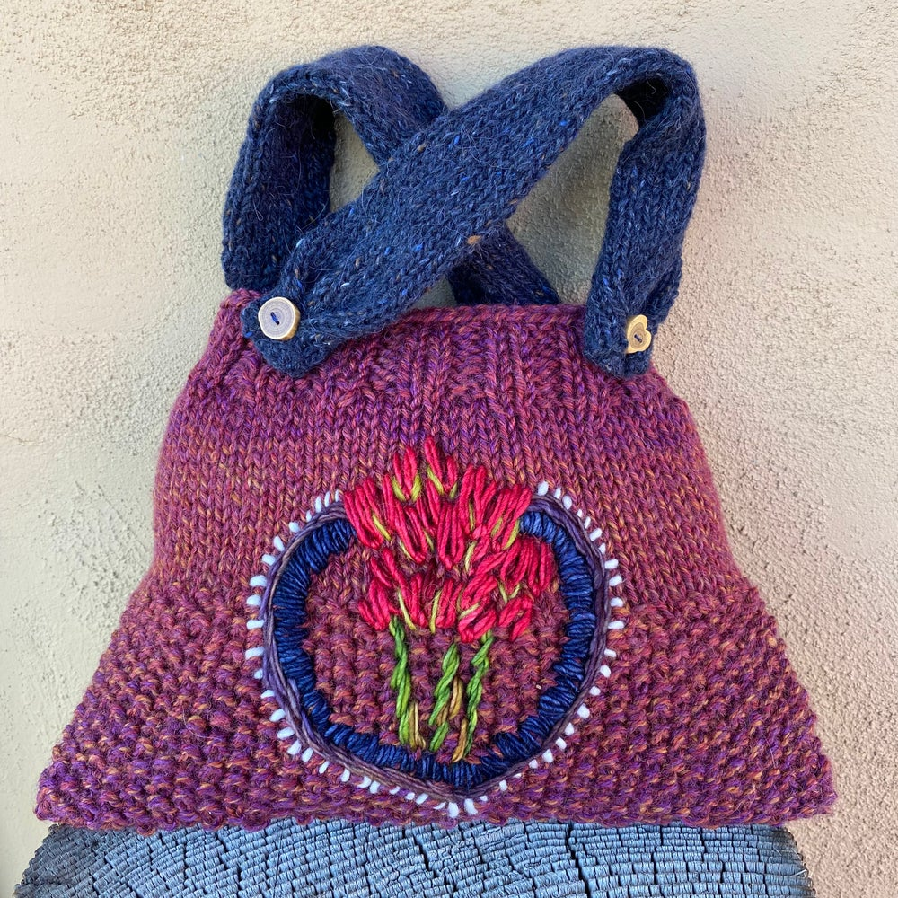 Image of Giant Red Paintbrush Knitted Pouch