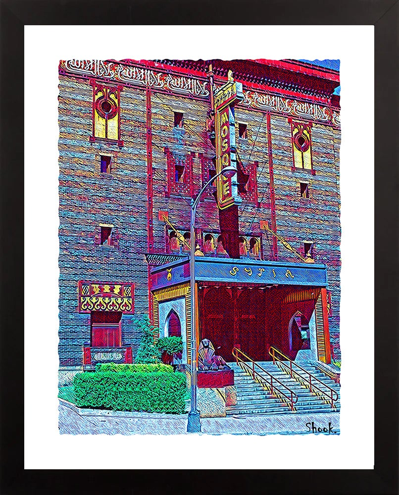 The Mosque Pittsburgh Giclée Art Print  (Multi-size options)