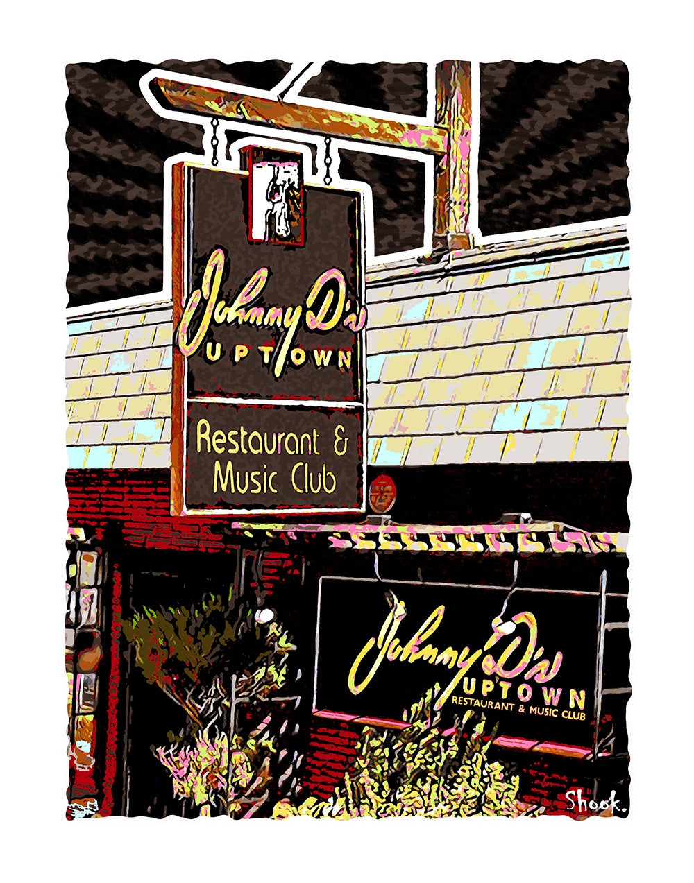 Johnny D's Somerville Giclée Art Print (Multi-size options)