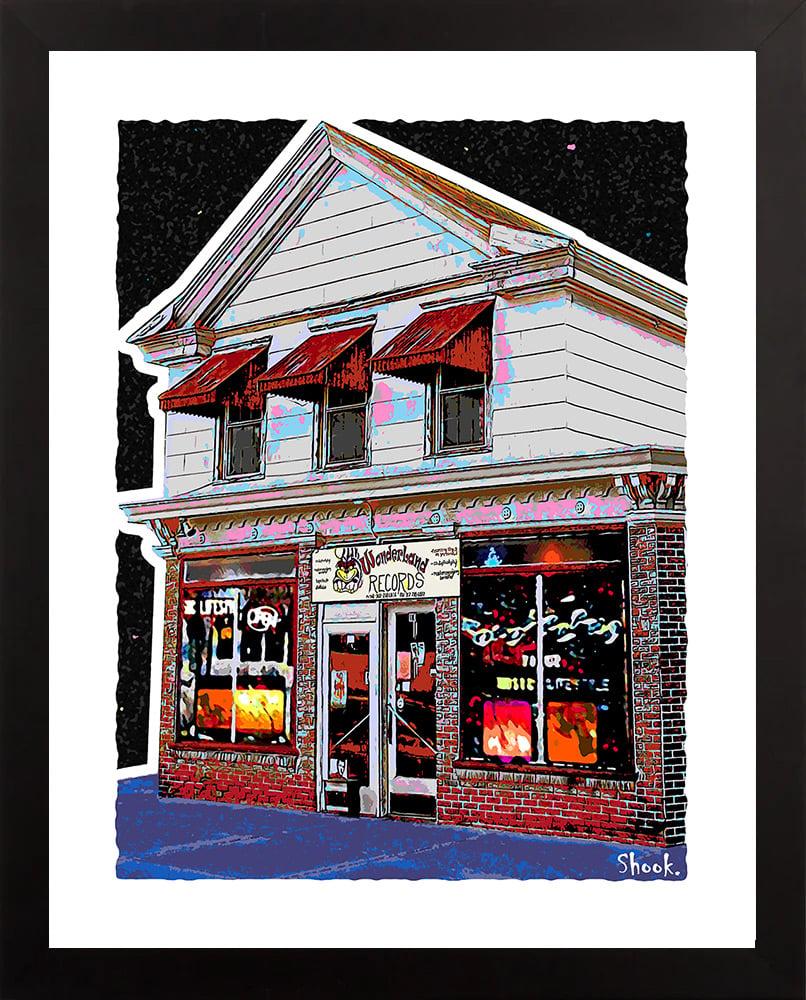 Wonderland Records Newark DE Giclée Art Print (Multi-size options)