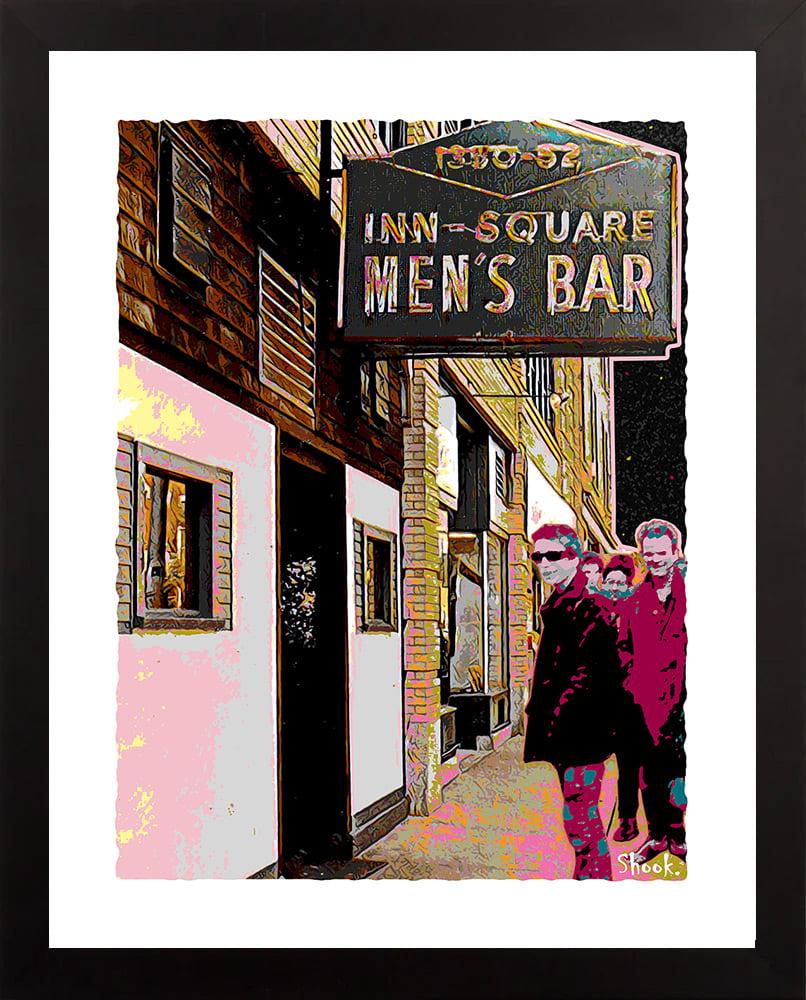 Inn-Square Men's Bar Cambridge Giclée Art Print (Multi-size options)
