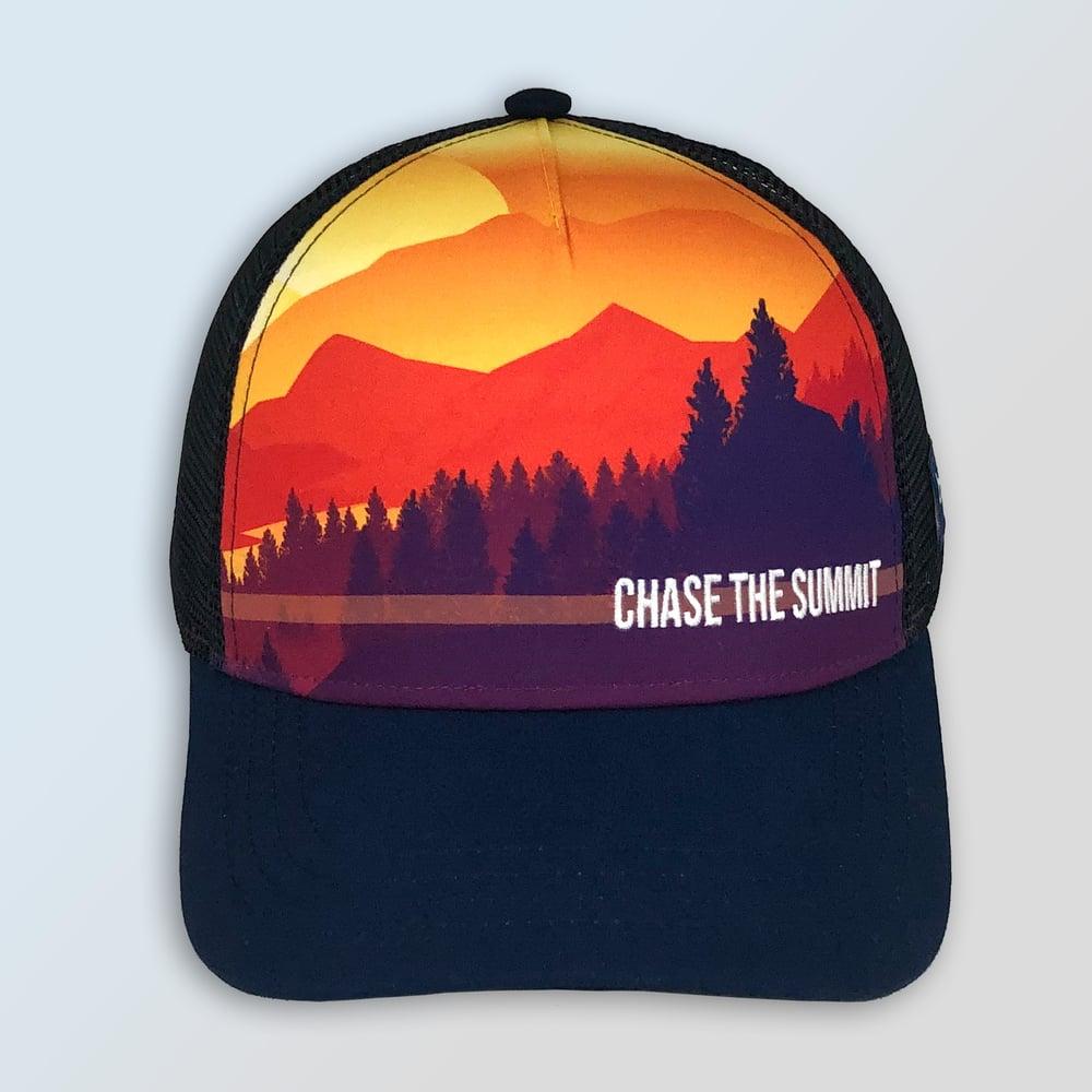 Image of CTS Sunrise Hat - Orange / Navy Blue - BOCO Gear Custom **FREE STICKER!**