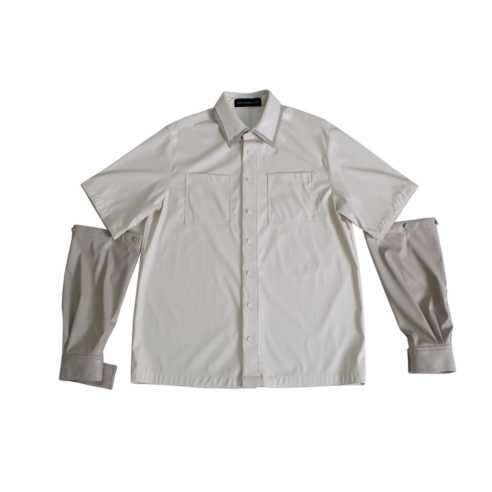 Image of 2 WAY TRANSFORMATION LIGHT LEATHER SHIRT