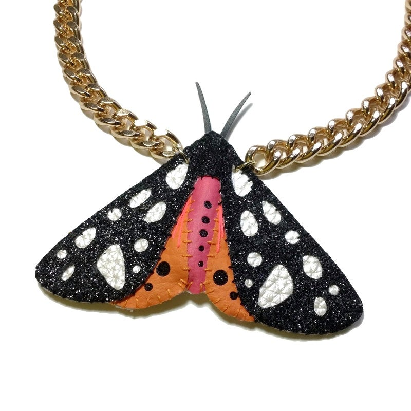 Image of Cream Spot Tiger Moth Necklace