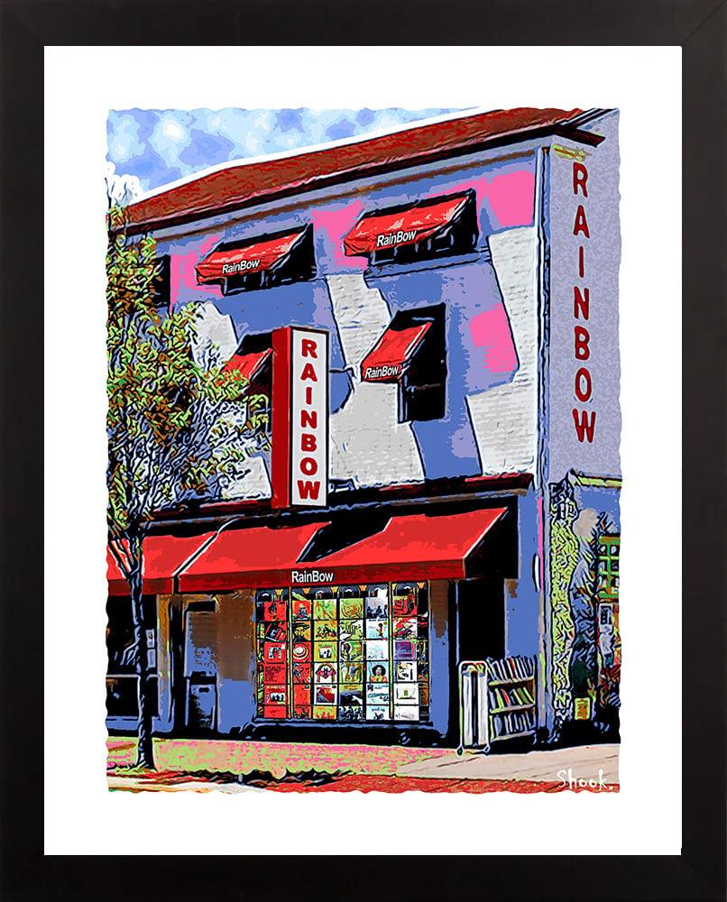 Rainbow Records Newark DE Giclée Art Print (Multi-size options)
