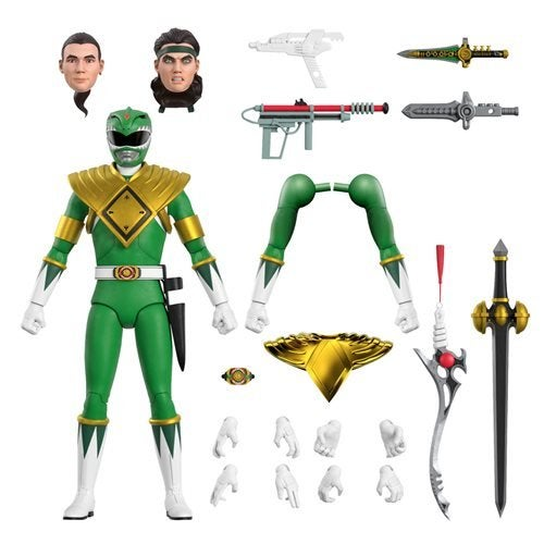 Image of Power Rangers Ultimates Mighty Morphin Green Ranger 7-Inch Action Figure