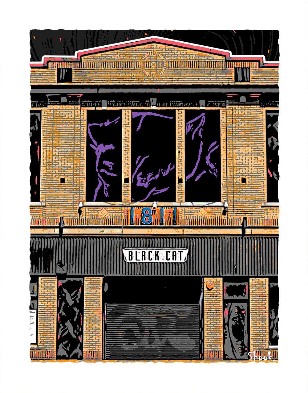 Black Cat DC Giclée Art Print (Multi-size options)