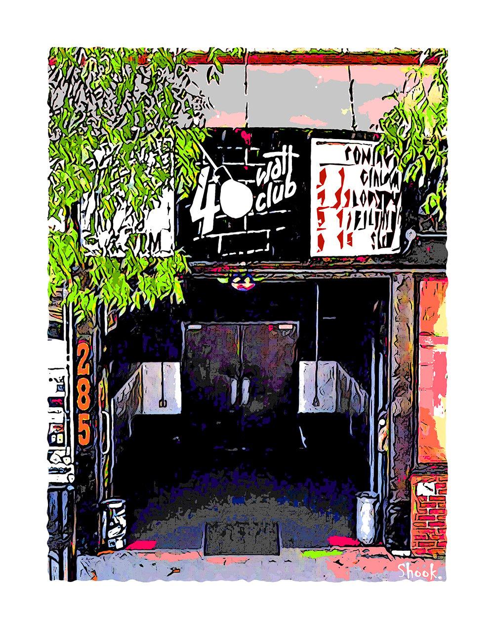 40 Watt Club Athens GA Giclée Art Print (Multi-size options)