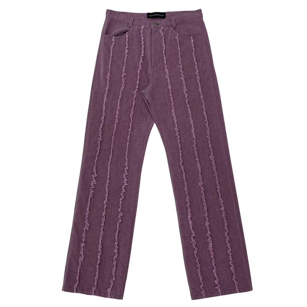 Image of PINK RAW EDGE DEVINE DENIM PANTS