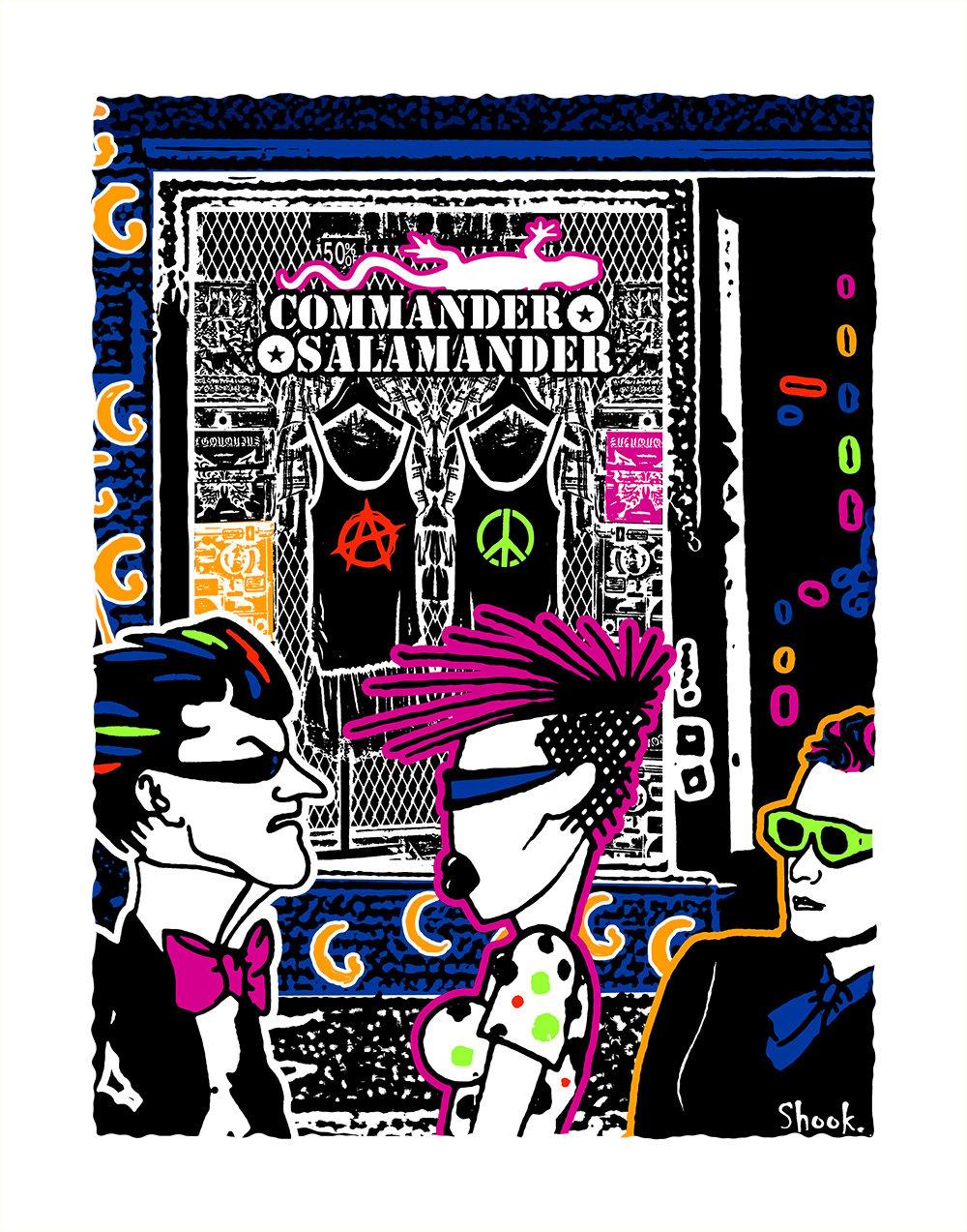 Commander Salamander DC Giclée Art Print  (Multi-size options)