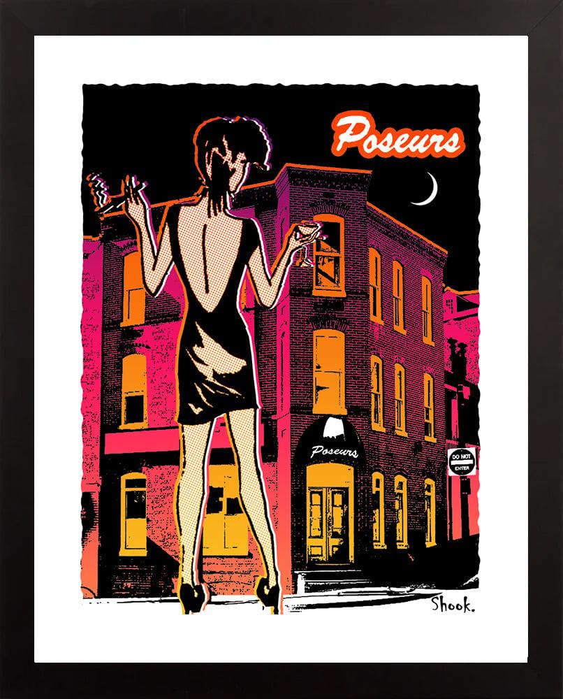 Poseurs Georgetown Giclée Art Print (Multi-size options)