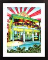 Sunshine House Surf Shop Ocean City MD Giclée Art Print (Multi-size options)