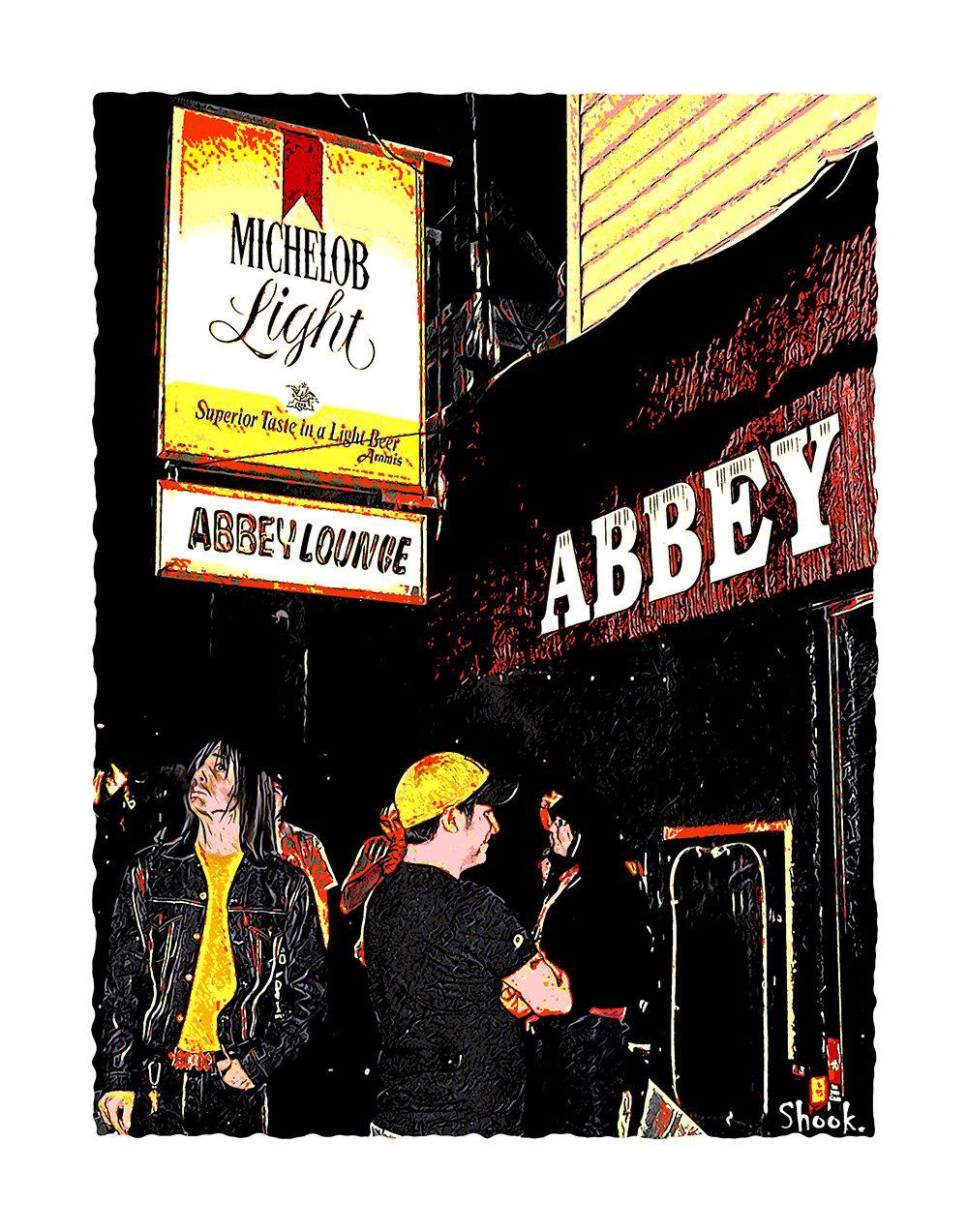 Abbey Lounge, Cambridge MA Giclée Art Print (Multi-size options)