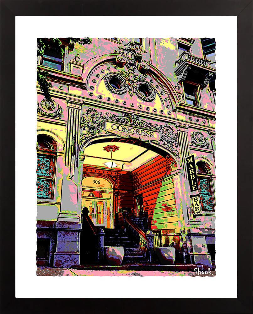 Congress Hotel/Marble Bar, Baltimore MD Giclée Art Print (Multi-size options)