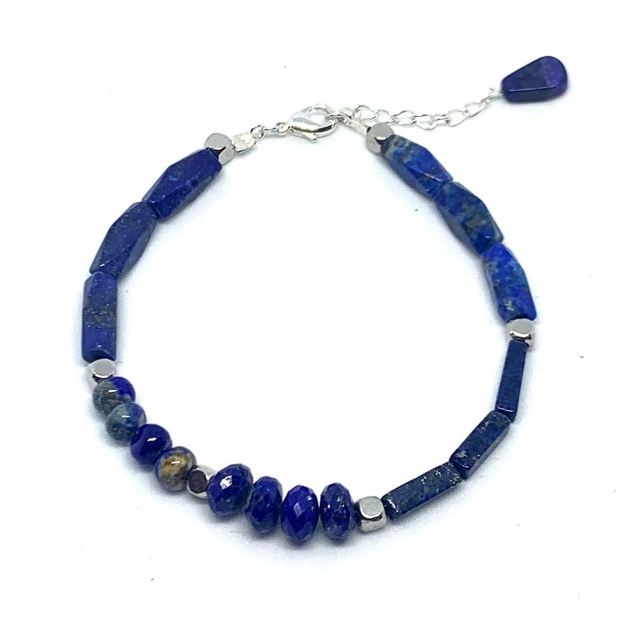 Image of Blueberry Lapis Bracelet