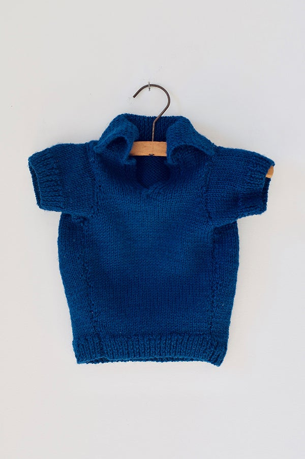Image of Knitted Over-Shirt - Petrol Blue