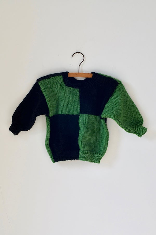 Image of Knitted Jersey - Green/Black