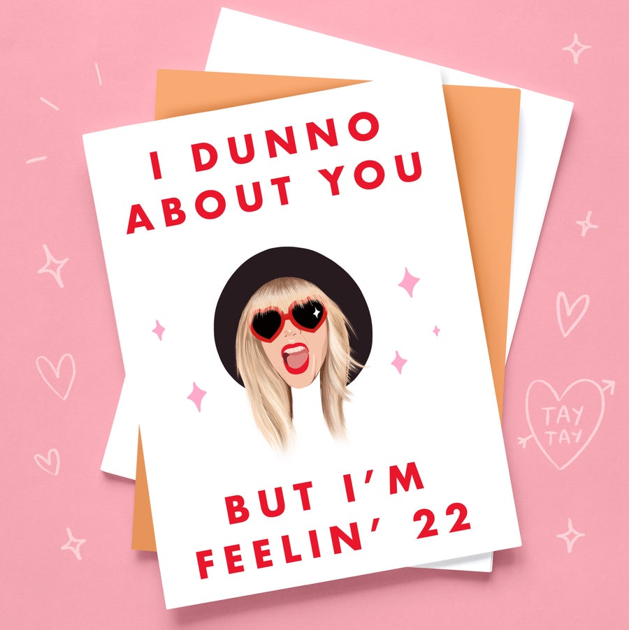 Image of Tay Tay 22nd Birthday Card