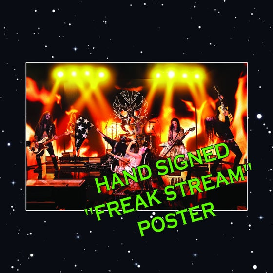 """Image of OFFICIAL - BEASTO BLANCO - PRE SALE """"FREAK STREAM"""" HAND SIGNED POSTER"""