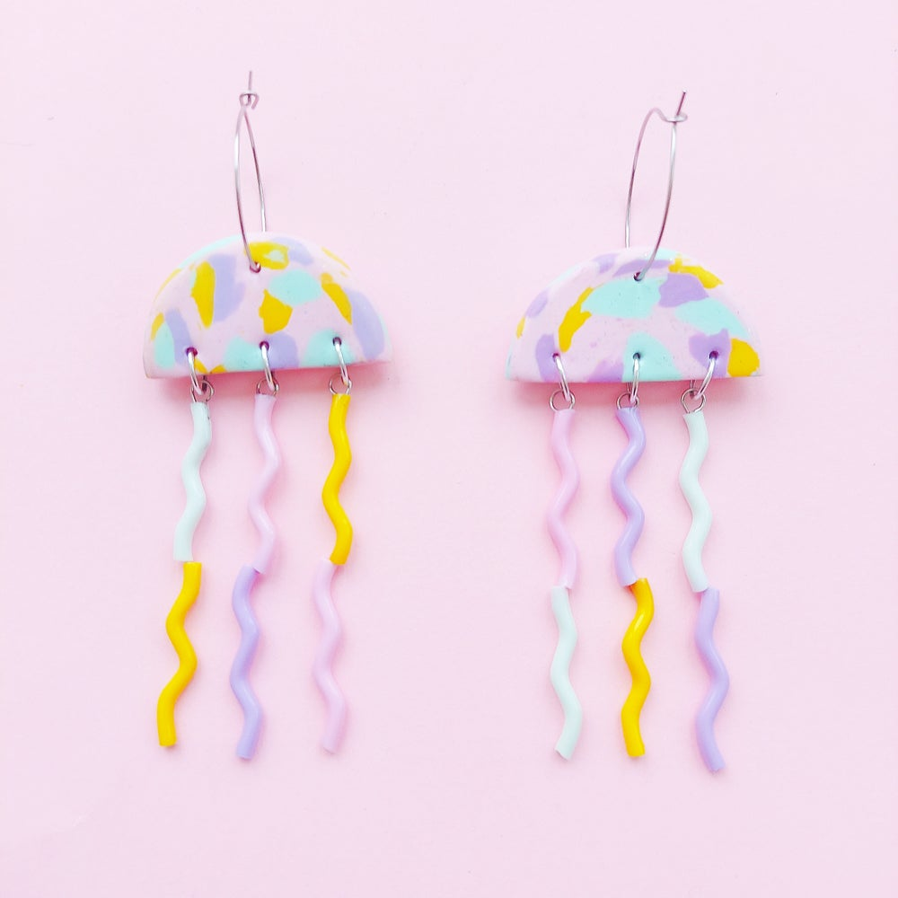 Image of Jellyfish earrings- various mixed colours