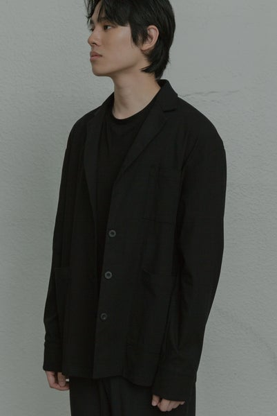 Image of TRAN - 寬版翻領西裝外套 (黑)