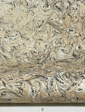 Marbled Paper Gouache Neutral Tones & Black - 1/2 sheets