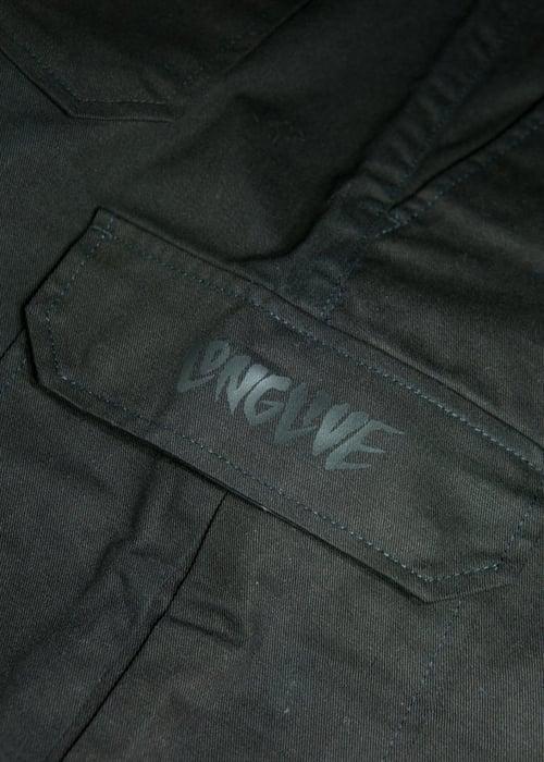 Image of Olive & Black Long Live Cargo Shorts