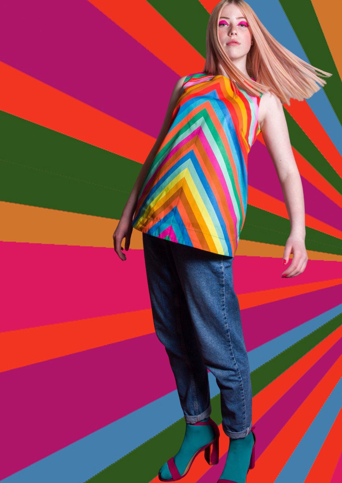Image of Mary, Mary 'Rainbow' Tunic
